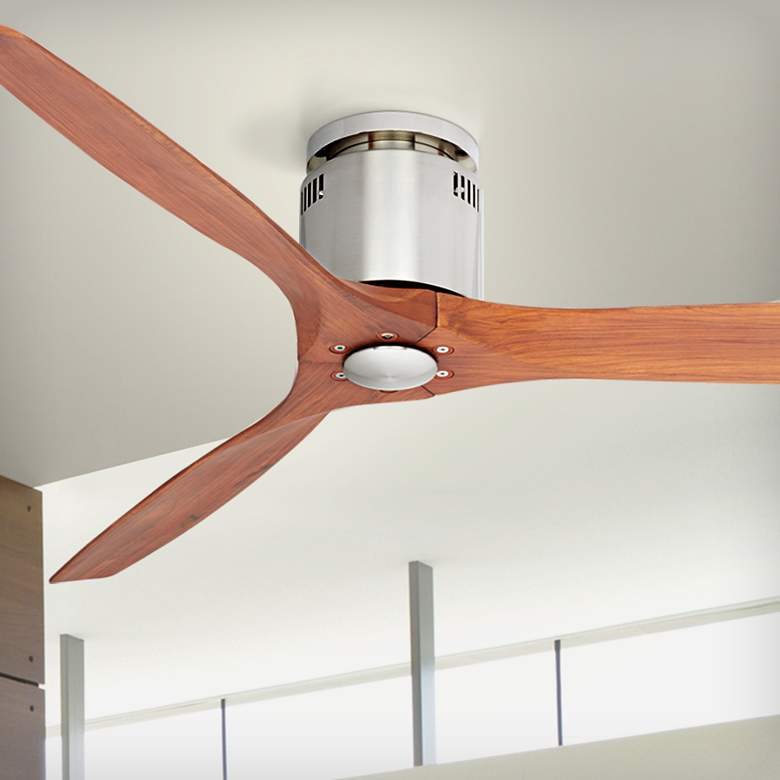 "52"" Windspun Walnut - Nickel DC Hugger Ceiling"