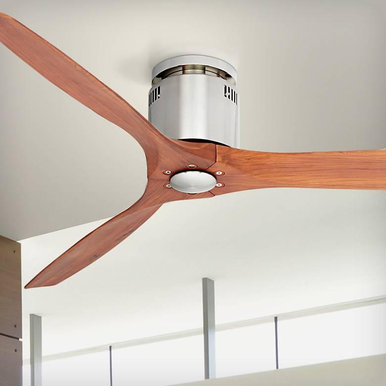 """52"""" Windspun Walnut - Nickel DC Hugger Ceiling Fan"""