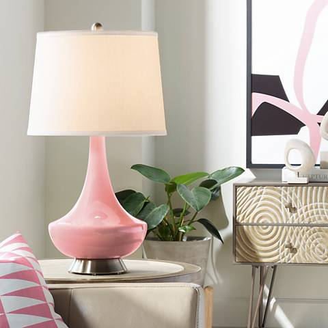 Haute Pink Gillan Glass Table Lamp