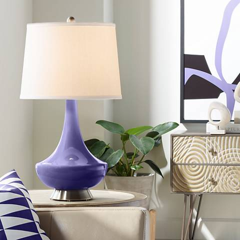 Valiant Violet Gillan Glass Table Lamp