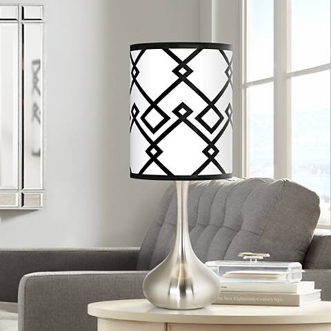 Diamond Chain Giclee Droplet Table Lamp