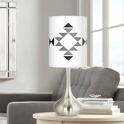 Desert Grayscale Giclee Droplet Table Lamp
