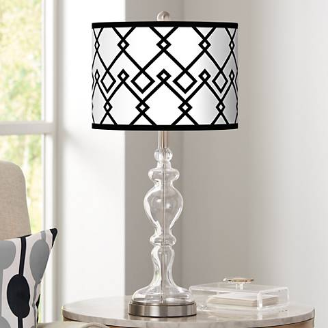 Diamond Chain Giclee Apothecary Clear Glass Table Lamp
