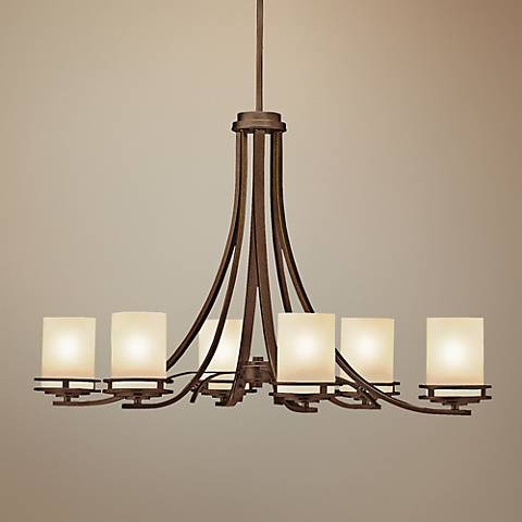 "Hendrik Bronze 35 3/4"" Wide 6-Light Chandelier"