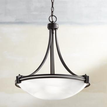 "Possini Euro Deco Bronze 21 1/2"" Wide Pendant Chandelier"