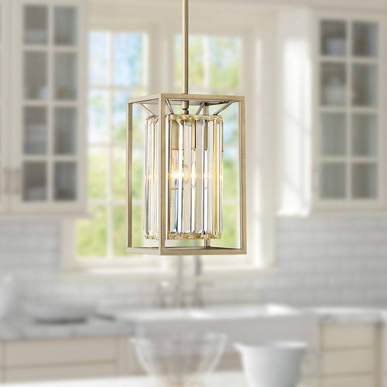 "Belmont 6 1/2"" Wide Gold Mini Pendant"