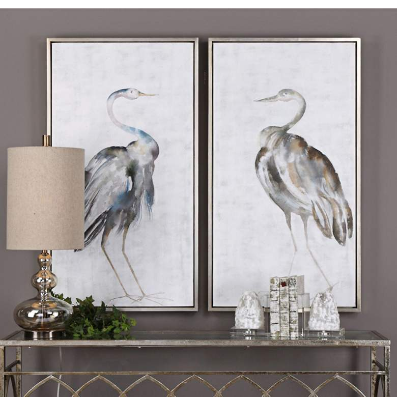 Summer Birds 46 3 4 High 2 Piece Framed Canvas Wall Art Set