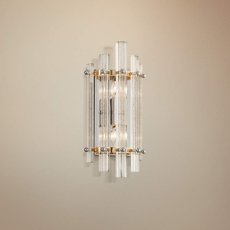 "Corbett Sauterne 15"" High Venetian Glass Wall Sconce"