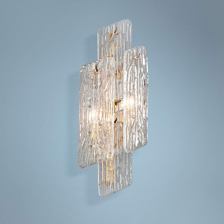 "Corbett Piemonte 20"" High Royal Gold Wall Sconce"