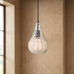 "Possini Euro Cancun 6 1/4""W English Bronze LED Mini Pendant"