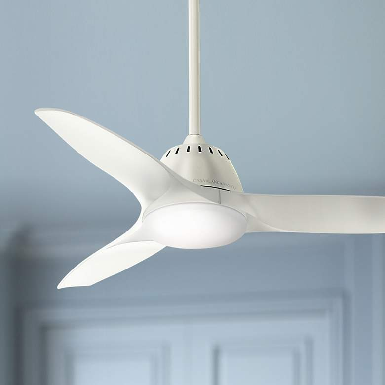 "44"" Casablanca Wisp Fresh White LED Ceiling Fan"