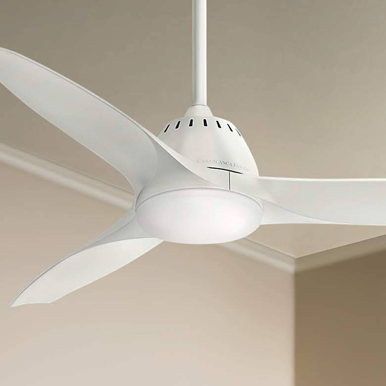 "52"" Casablanca Wisp Fresh White LED Ceiling Fan"
