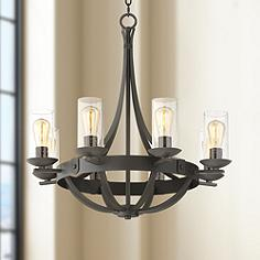 Arts and crafts mission energy efficient chandeliers lamps plus rondeau 28 aloadofball Images