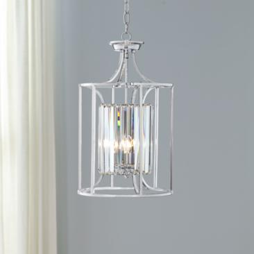 "Soraya 13 3/4"" Wide Chrome and Crystal Pendant Light"