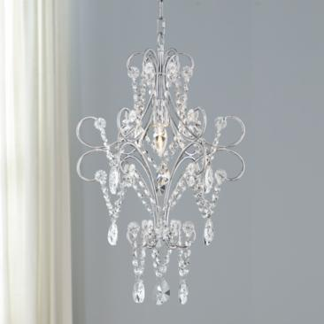 "Chaminade 14 1/2"" Wide Chrome and Crystal Chandelier"