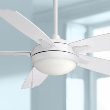 "54"" Minka Aire Lun-Aire White LED Ceiling Fan"