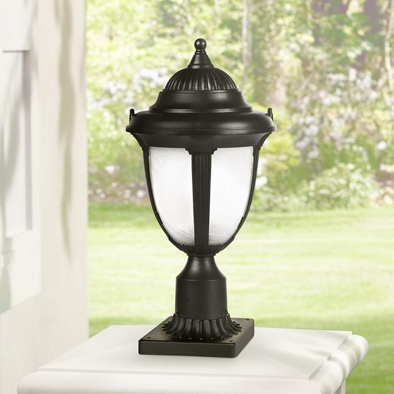 "Casa Sorrento™ 16 3/4""  High Black Post Mount Light"