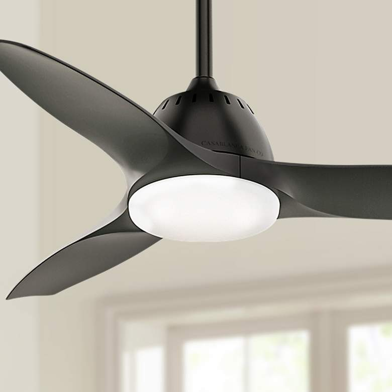 "44"" Casablanca Wisp Noble Bronze LED Ceiling Fan"