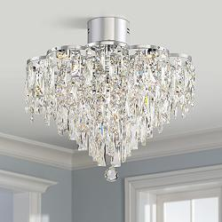 "Villette 19 3/4"" Wide Chrome Flushmount LED Ceiling Light"