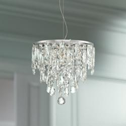 "Regency 12"" Wide Chrome LED Crystal Mini Pendant"