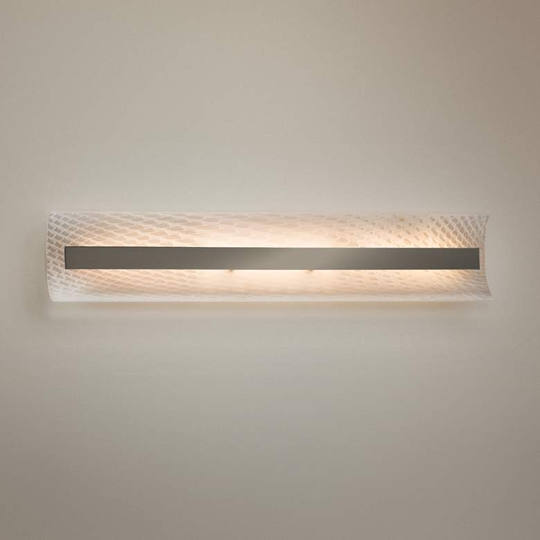 "Fusion™ Contour 21 1/2""W Brushed Nickel LED Bath Light"