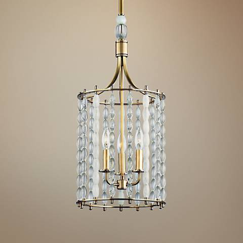 "Whitestone 11"" Wide Aged Brass 3-Light Mini Pendant"