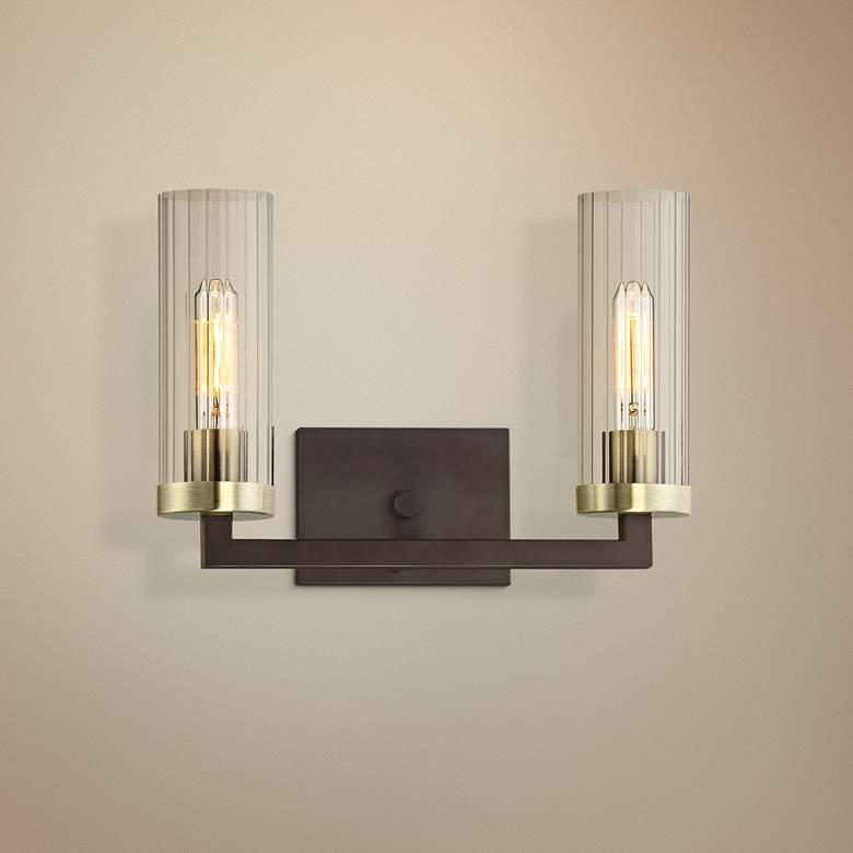 "Ainsley Court 10"" High Kingston Bronze 2-Light Wall"