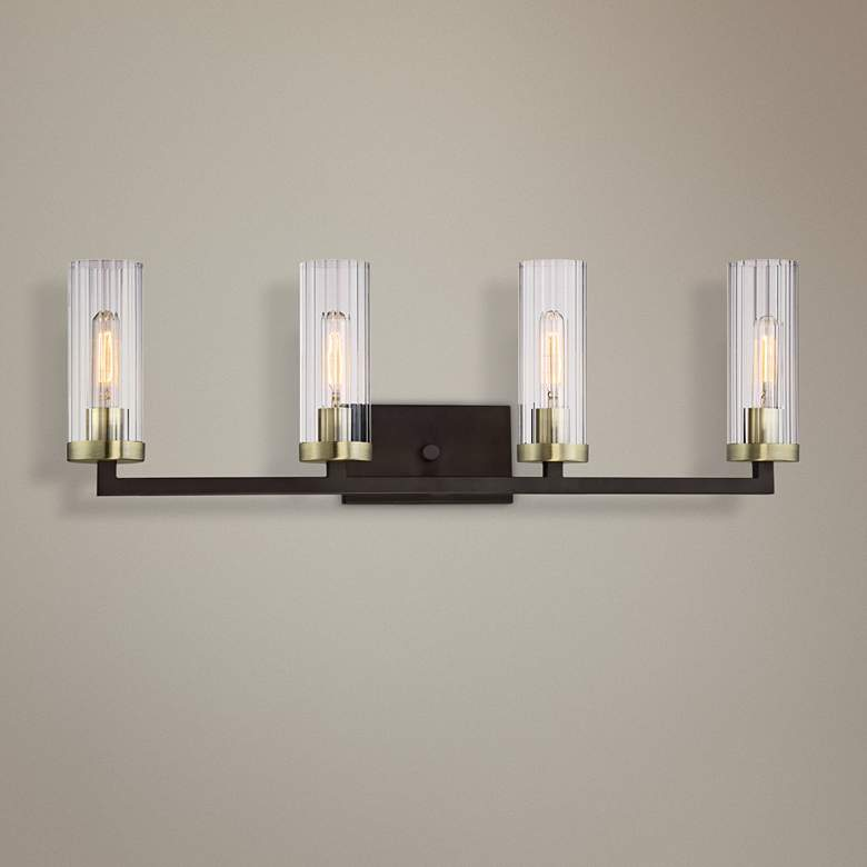 "Ainsley Court 32 3/4""W Kingston Bronze 4-Light Bath"