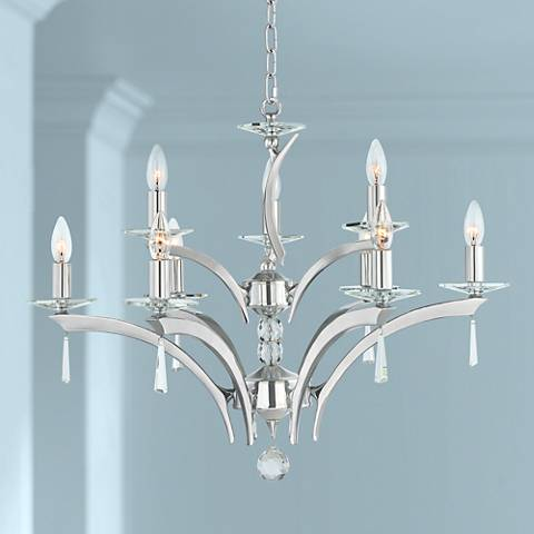 "Possini Euro Spyre 26 1/4"" Wide Chrome 9-Light Chandelier"