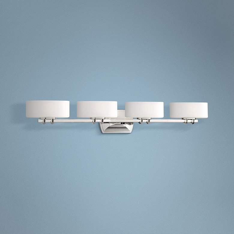 "Drury 36 1/4"" Wide Polished Nickel 4-Light Bath"