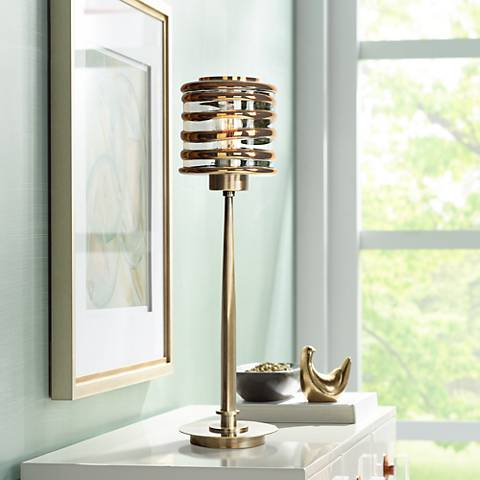 Uttermost Tovel Antique Brass Buffet Table Lamp