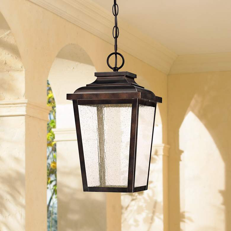 "Irvington Manor 15 1/2""H Bronze LED Outdoor Hanging"