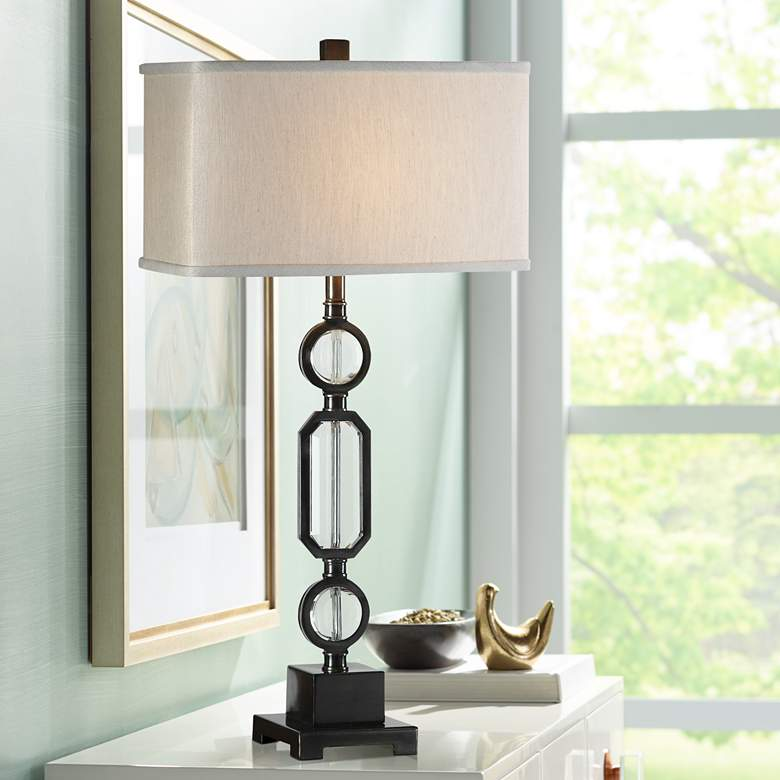 Uttermost Jugovo Dark Gun Metal Bronze Table Lamp
