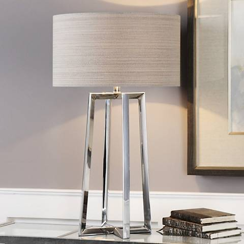 Uttermost Keokee Polished Stainless Steel Table Lamp