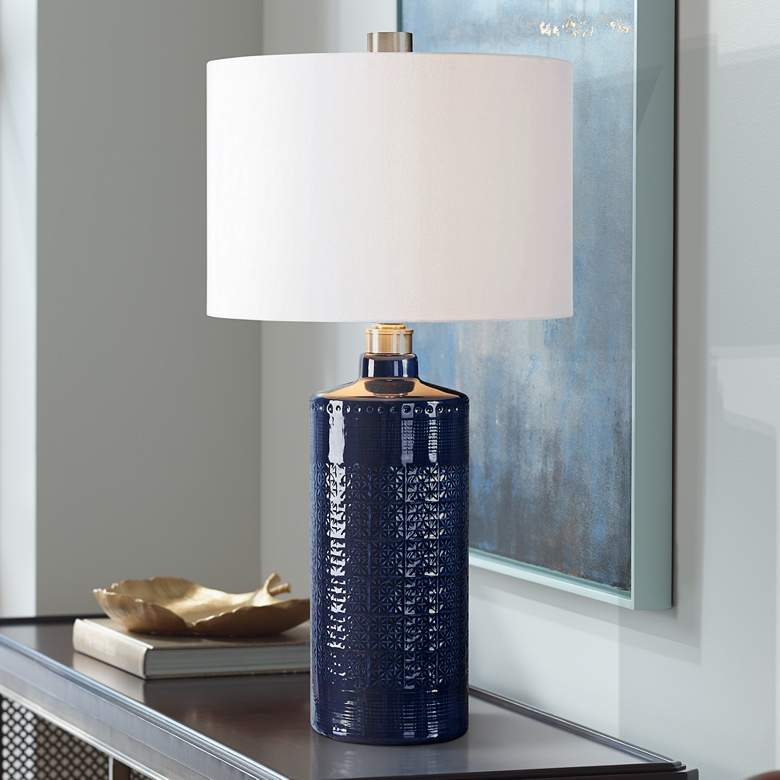 Uttermost Thalia Blue Ceramic Table Lamp