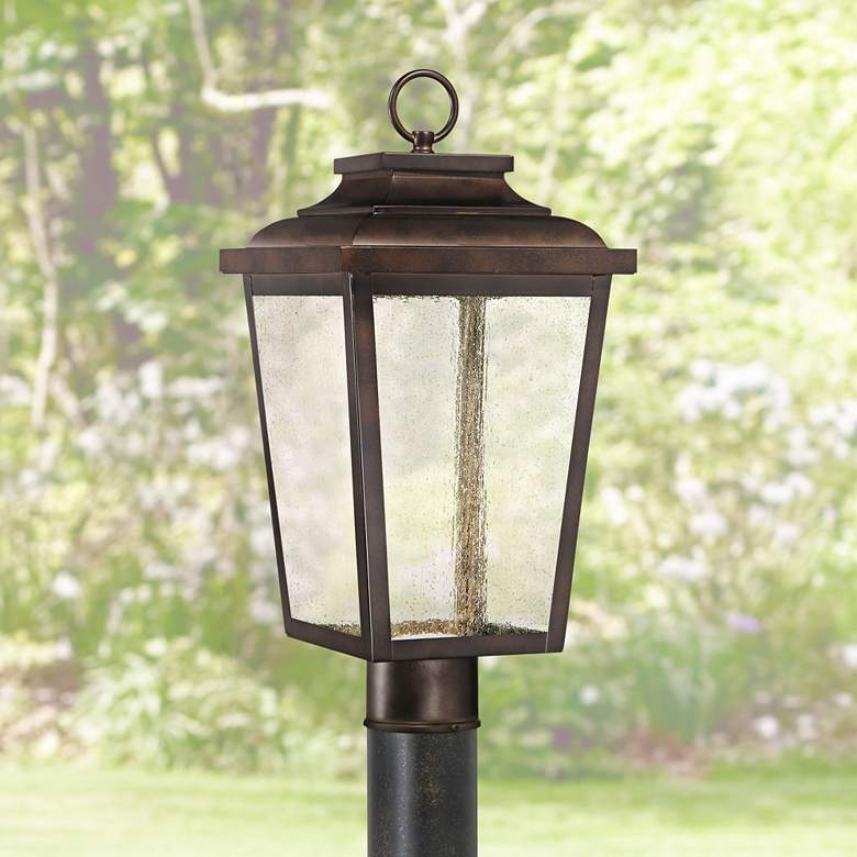 "Irvington Manor 18"" High Bronze LED Outdoor Post"