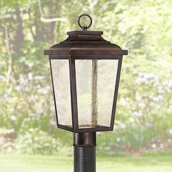 "Irvington Manor 18"" High Bronze LED Outdoor Post Light"