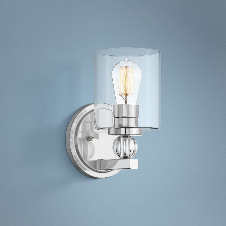 "Studio 5 9 1/2"" High Polished Nickel Wall Sconce"