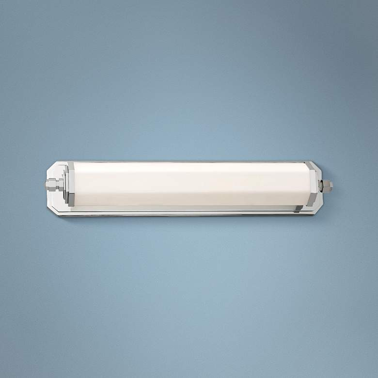 "Lowry 24 1/4"" Wide Polished Nickel LED Bath Vanity Light"