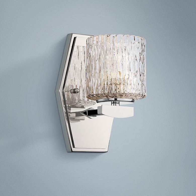 "Maginot 8"" High Polished Nickel LED Wall Sconce"