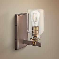 "Morrow 10"" High Harvard Court Bronze and Gold Wall Sconce"