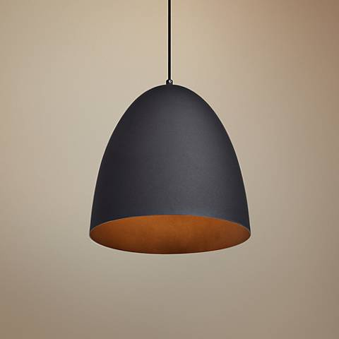 "Nostalgia 12"" Wide Matte Black Mini Pendant"