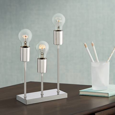 "Gabi 11"" High Metal 3-Light Accent Table Lamp"
