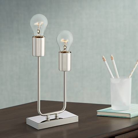 Gabi High Metal 2-Light Accent Table Lamp
