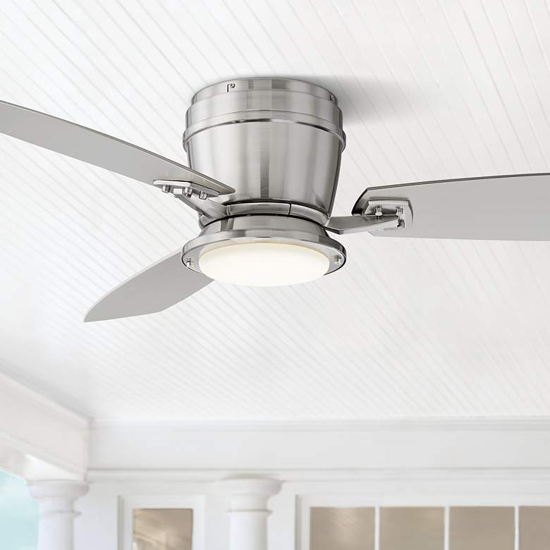"52"" Playa Del Ray Brushed Nickel Wet LED Ceiling Fan"