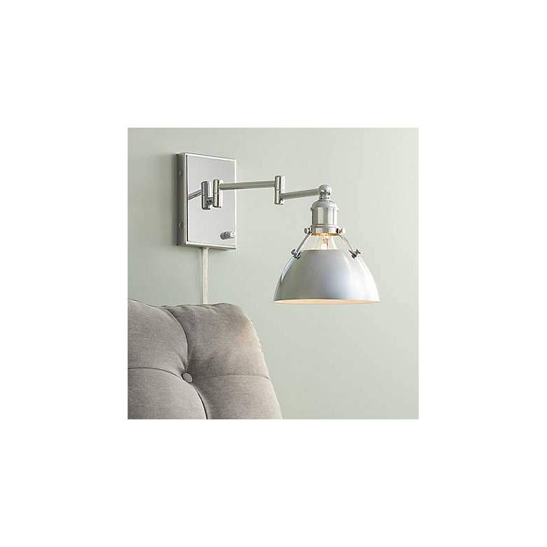 Danny Polished Nickel Down Light Swing Arm Wall Lamp