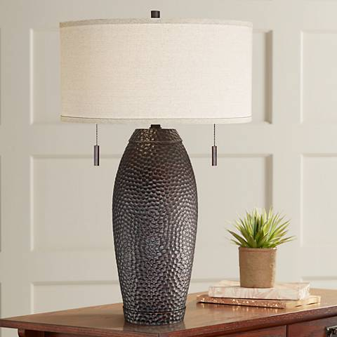 Noah Hammered Bronze Table Lamp