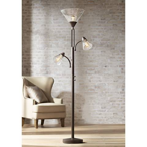Warwick tree torchiere floor lamp with edison bulbs