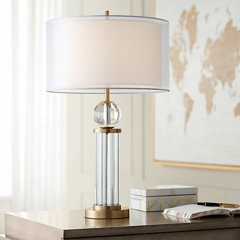 Darcy Crystal Brass Table Lamp