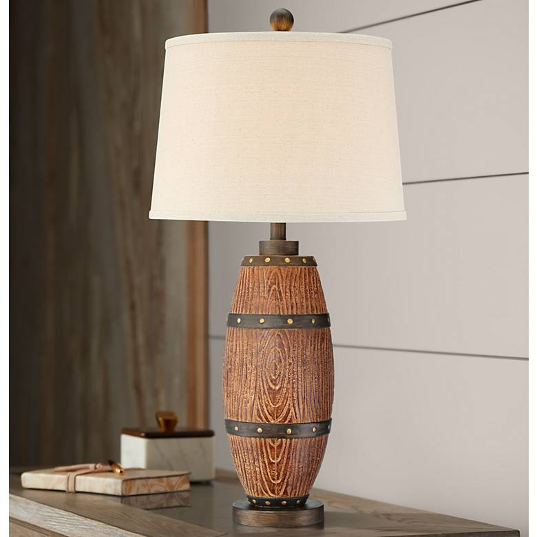 Grantham Faux Cask Table Lamp